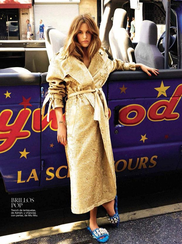 Riley Keough Stars in Glamour Spain September 2016 Cover Story