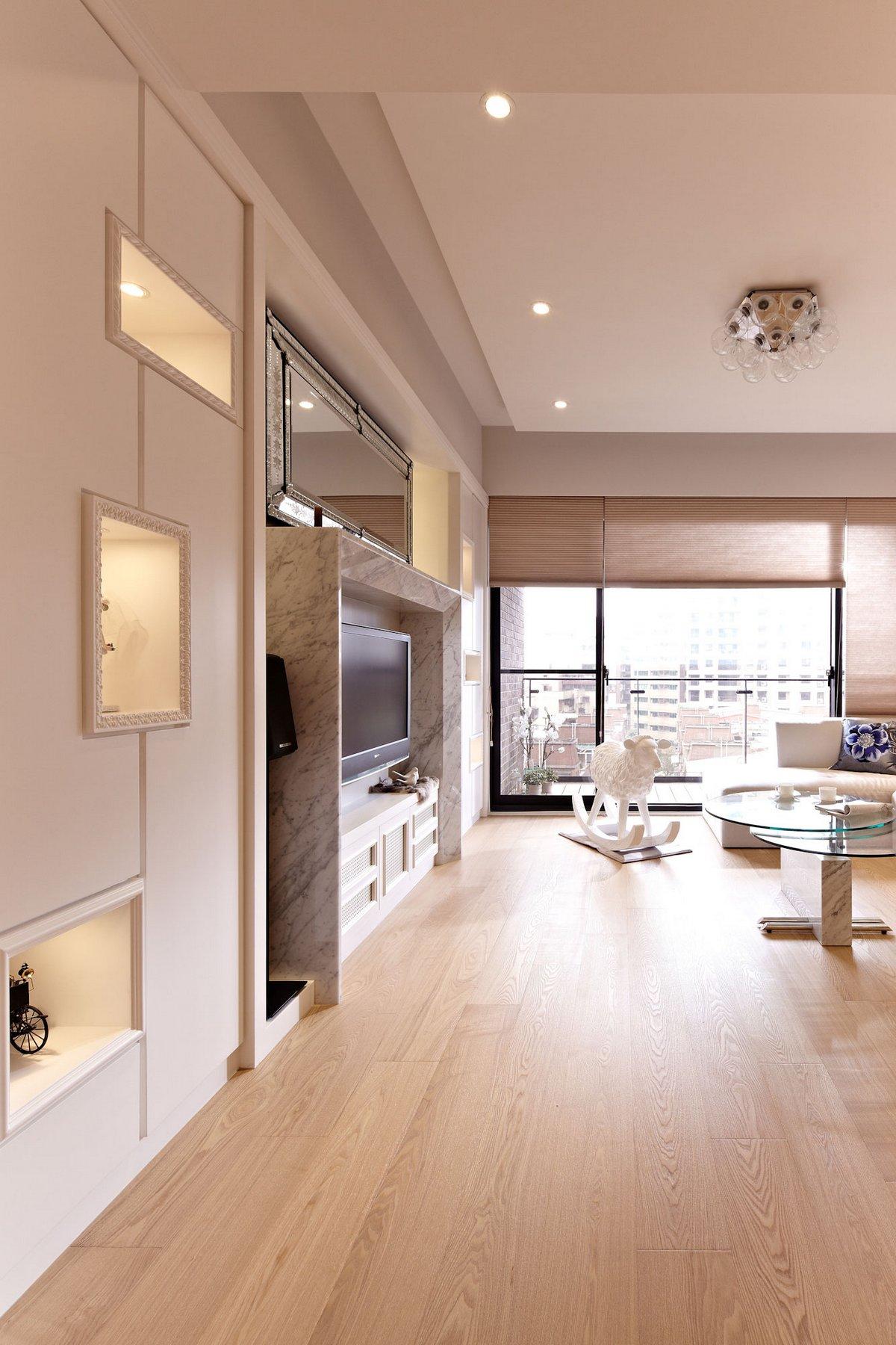 Studio Alfonso Ideas, Lover of White, Тайбэй, Тайвань, светлый интерьер квартиры фото, проекты современных квартир, дизайн интерьера квартиры фото