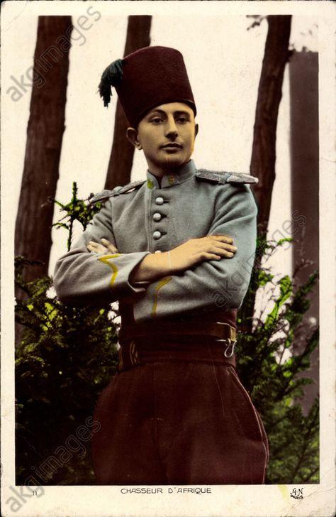 Chasseur d'Afrique, Französischer Kolonialkrieger, Uniform