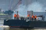 Отряд кораблей Каспийской флотилии завершил сбор-поход в море и вернулся в пункт базирования