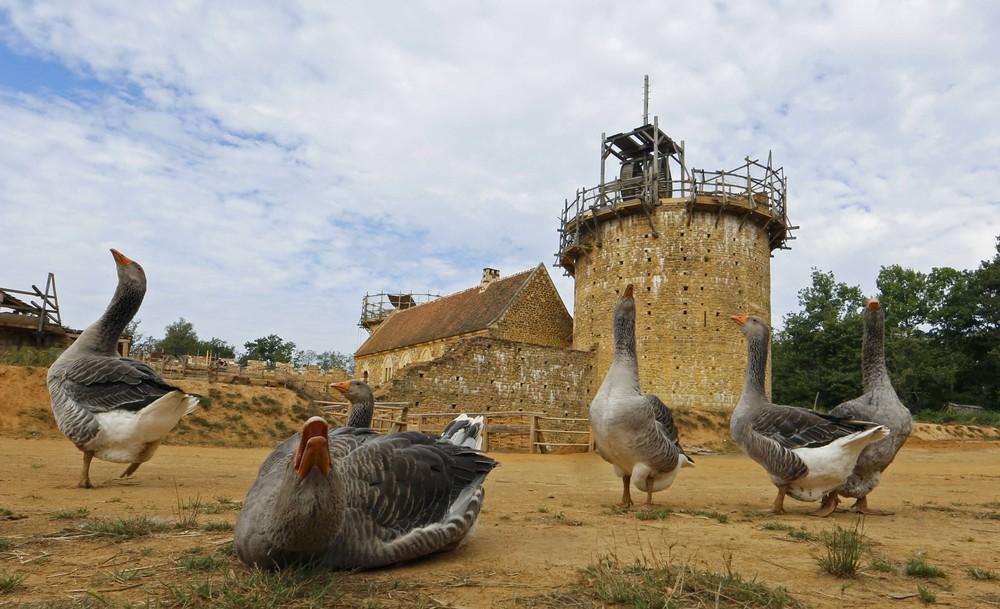 Строительство замка во Франции