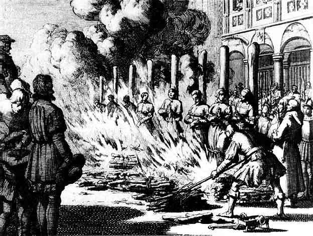 Ян Люкейн. Сожжение 18 ведьм и колдунов в Зальцбурге в 1528 году