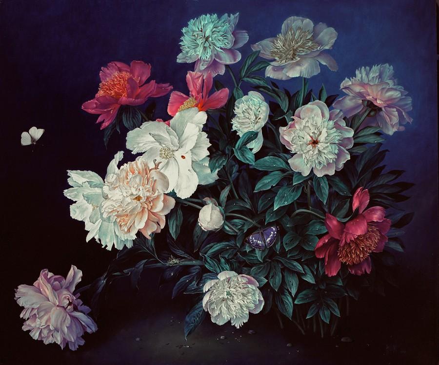 ЦВЕТОЧНОЕ ВЕЛИКОЛЕПИЕ В ЖИВОПИСИ JOSE ESCOFET, живопись, цветы