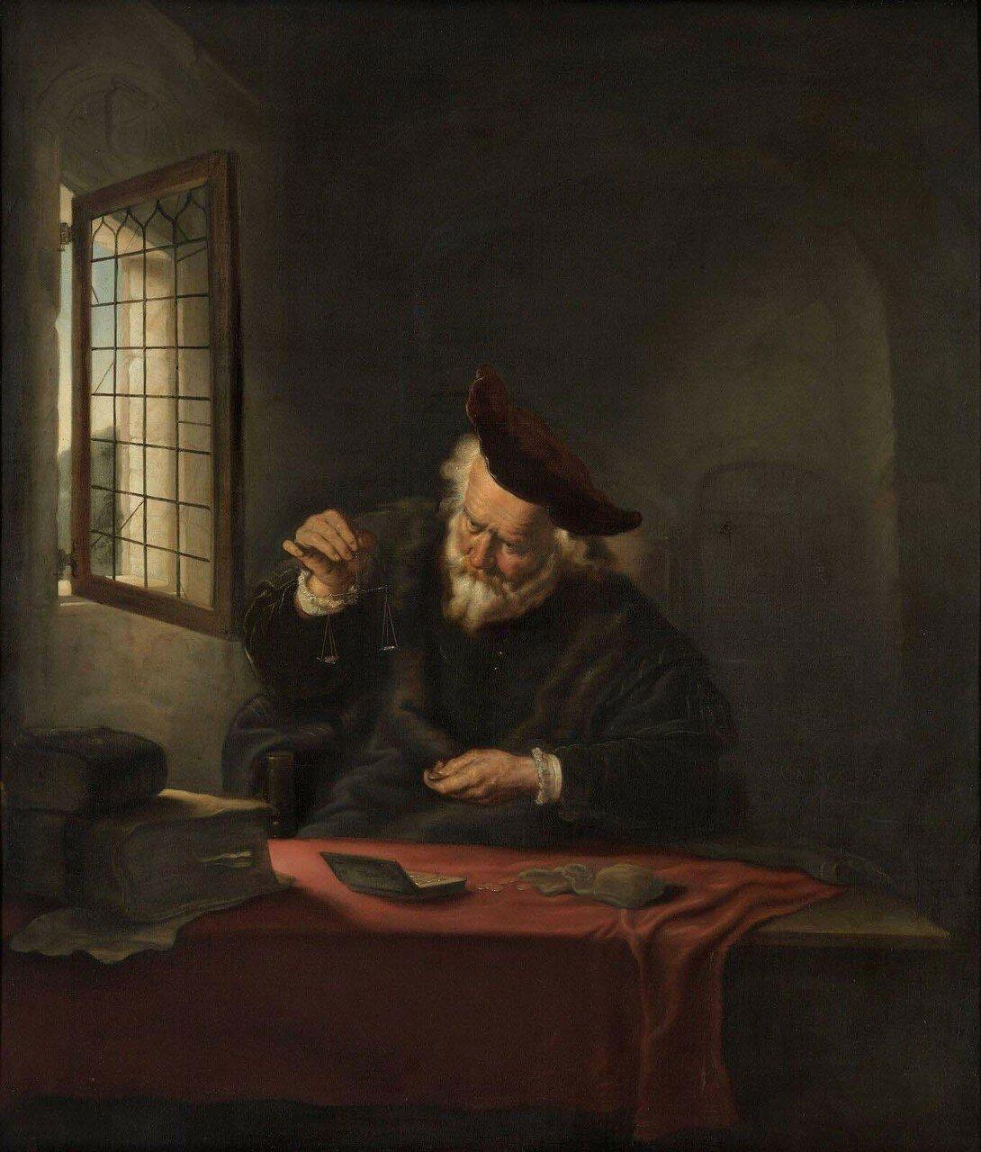 1654_Весовщик (The gold-weigher)_75.7 х 64_х.,м._Роттердам, музей Бойманса ван Бёнингена.jpg