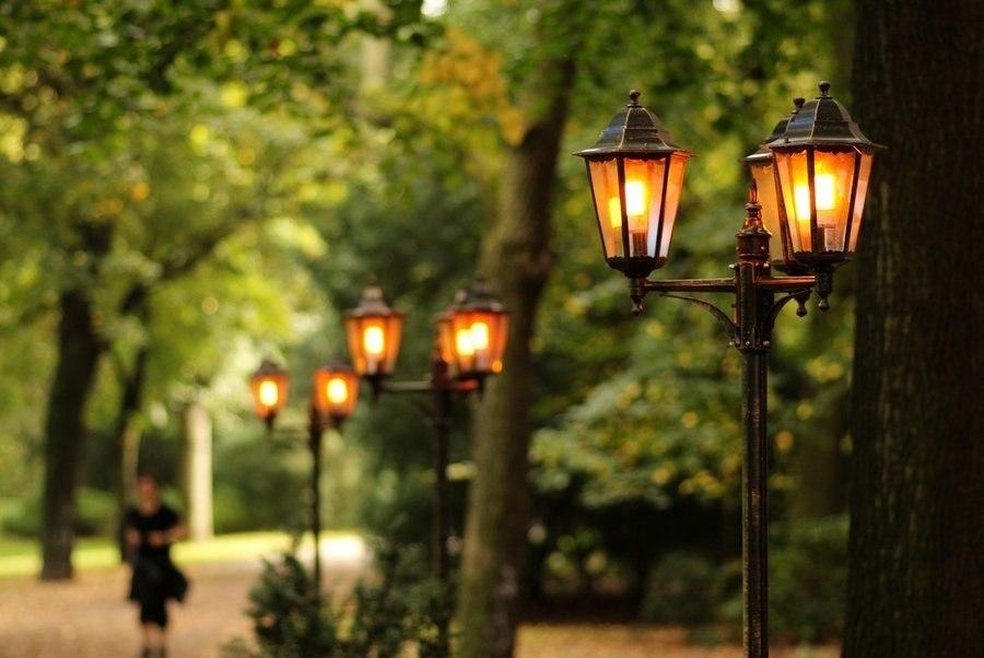 городское уличное освещение