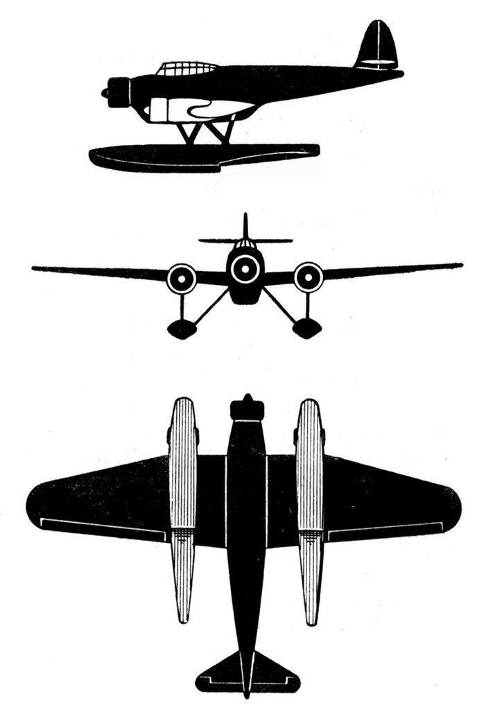 Силуэты итальянских самолетов (1939) 057