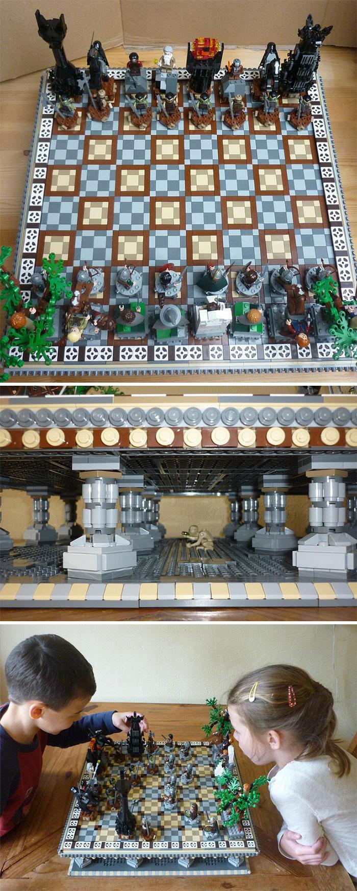Шахматы из Lego. При помощи конструктора можно превратить эту древнюю игру в еще более увлекательное