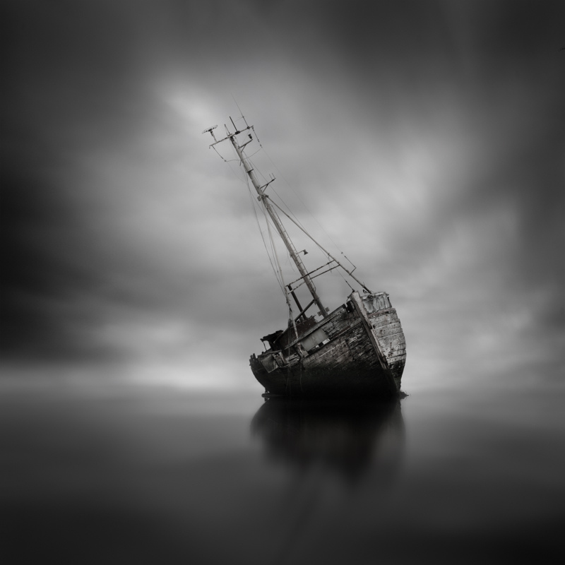 Self-taught photographer Darren Moore creates ethereal black and white landscapes using a method cal