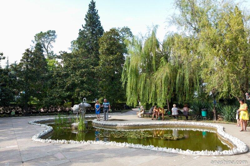 "Пруд ""Черное море"", парк Ривьера, Сочи"