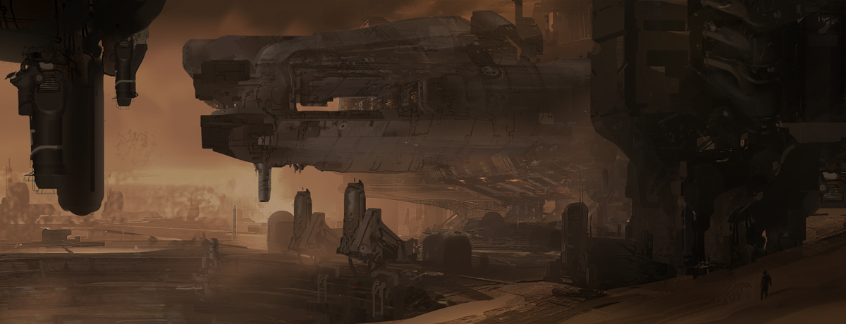 DOOM Concept Art by A.J. Trahan