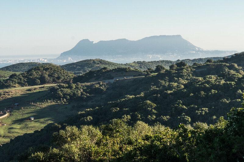 скала гибралтара вид из парка эстречо