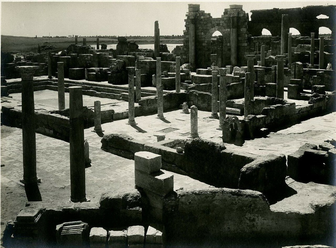 Лептис-Магна. Термы, Фригидарий, Тепидарий, Кальдарий. 1900-е.