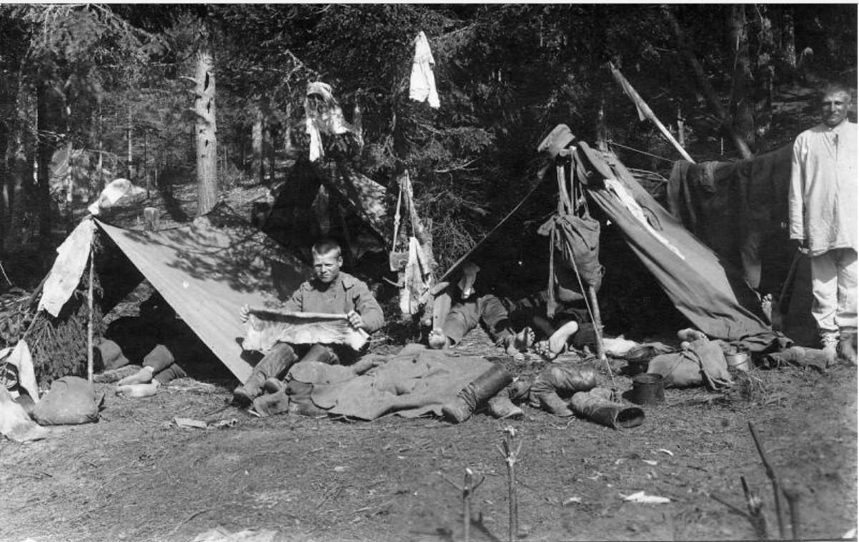 Подъем в лагере