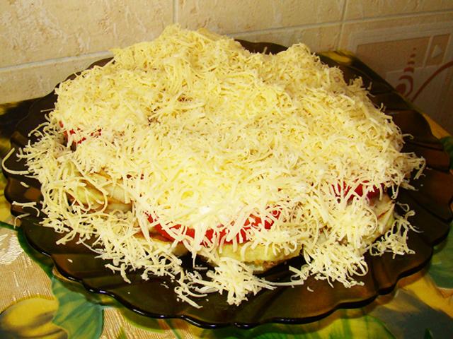 Еврейский салат в помидорах