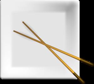 тарелка и палочки