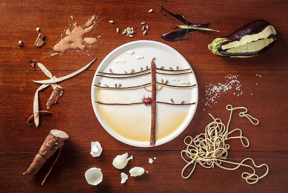 Произведения искусства от девушки, которая любит играть с едой (5 фото)