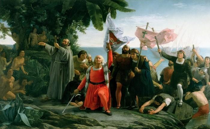 Т. Пуэбла. Первая высадка Христофора Колумба в Новом Свете, 1862 Сведения о том, чем занимался Колум