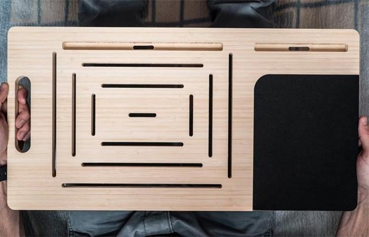 2. LapPad — доска с множеством продолговатых отверстий. LapPad скорее можно назвать аксессуаром, чем