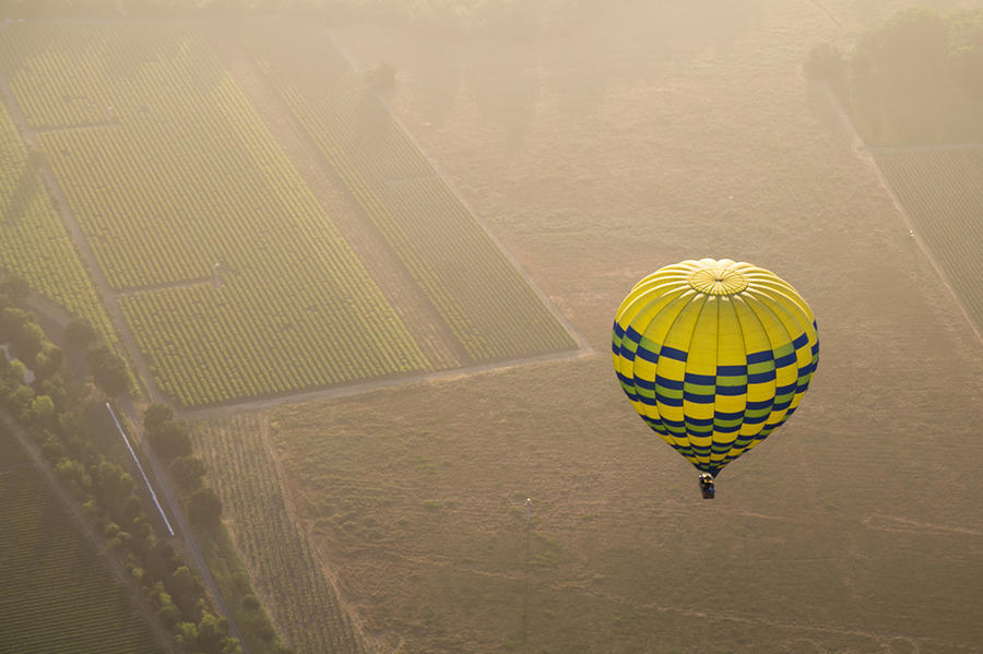 7. Полеты через долину Напа в Калифорнии
