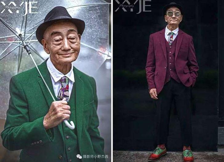 Внук превратил 85-летнего фермера в невероятно стильного дедушку (11 фото)