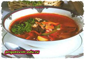 Картофельный суп с болгарским перцем