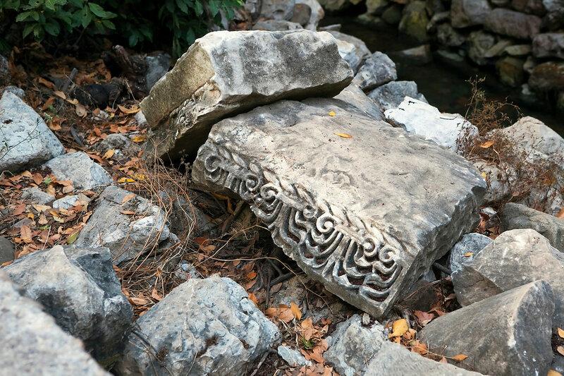 the fragment of pommel column