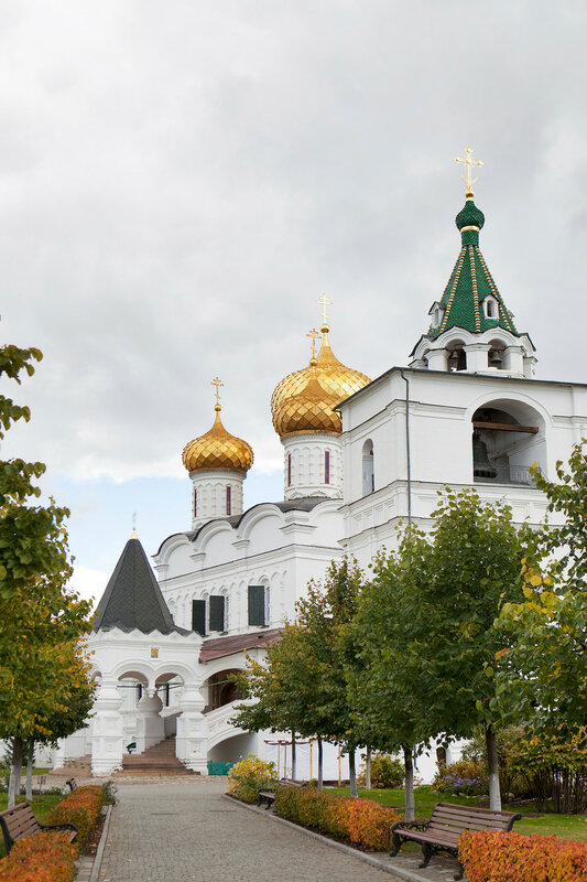 Christianity cathedral in Russia, Kostroma city, Ipatievsky monastery, Cradle of the house of Romanovs