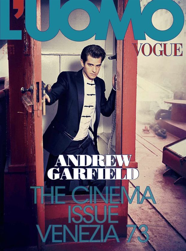 Hacksaw Ridge 's star Andrew Garfield lands the cover story of L'Uomo Vogue 's Cinema is