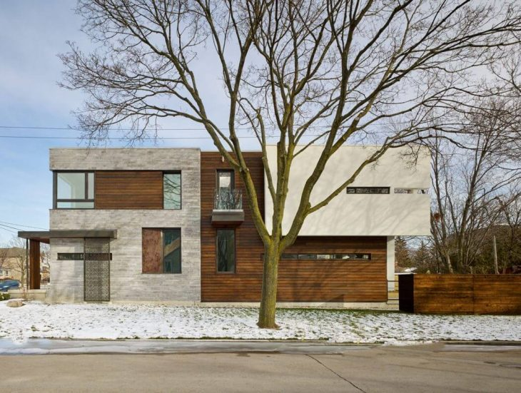 Alva Roy Architects designed this contemporary two-storey residence situated in Toronto, Canada in 2