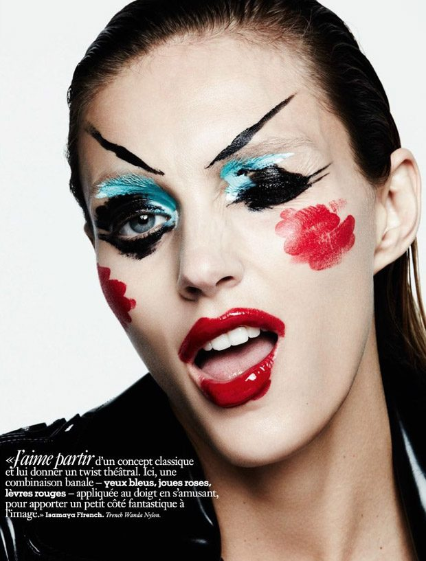 Anja Rubik Stuns from the Beauty Pages of Vogue Paris September Issue