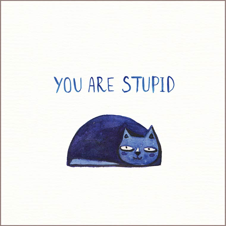 Postcard for your enemies – Some falsely adorable greeting cards for your foes