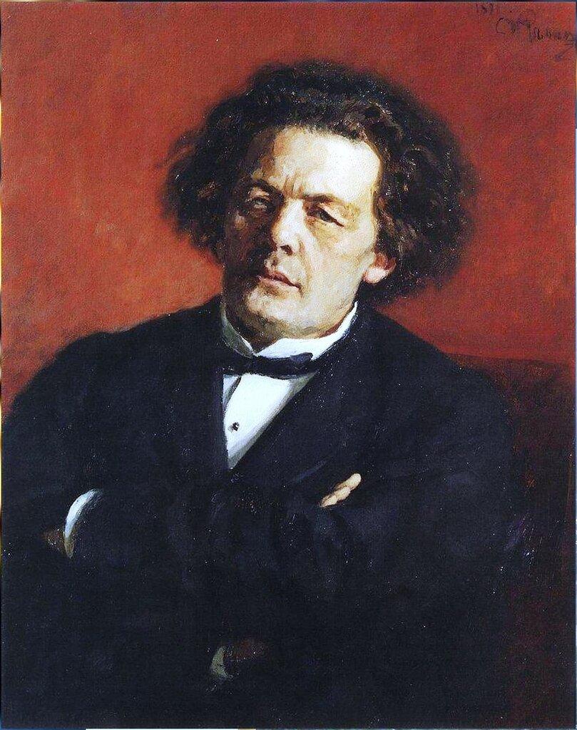 Портрет композитора А.Г.Рубинштейна. 1881. Русский художник Илья Ефимович Репин.jpg