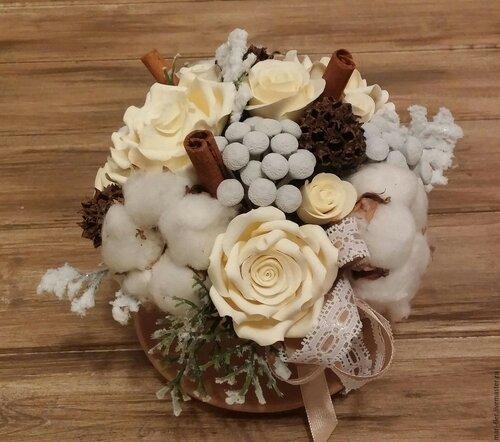 Композиции из зимних цветов в декоре