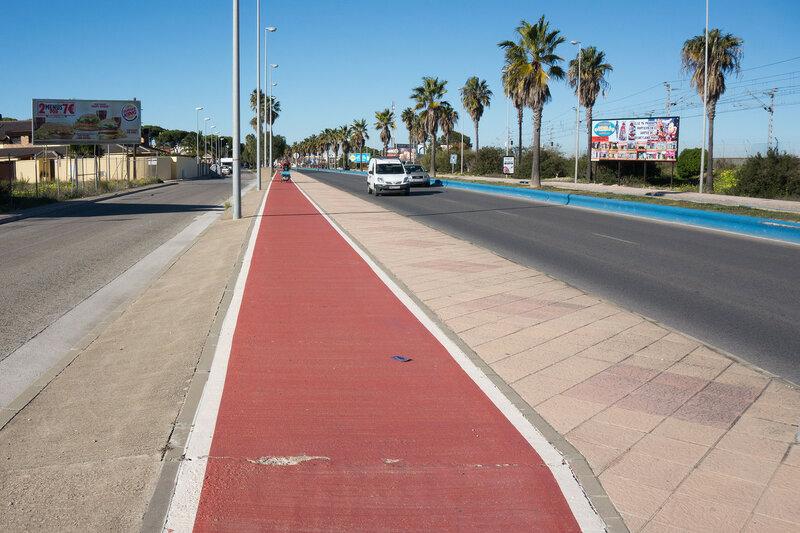 велодорожка в Puerto de Santa Maria, costa del luz, кадис