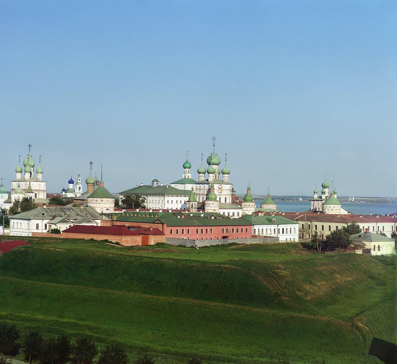 Общий вид Кремля с колокольни Всесвятской церкви. Вид с северо-запада