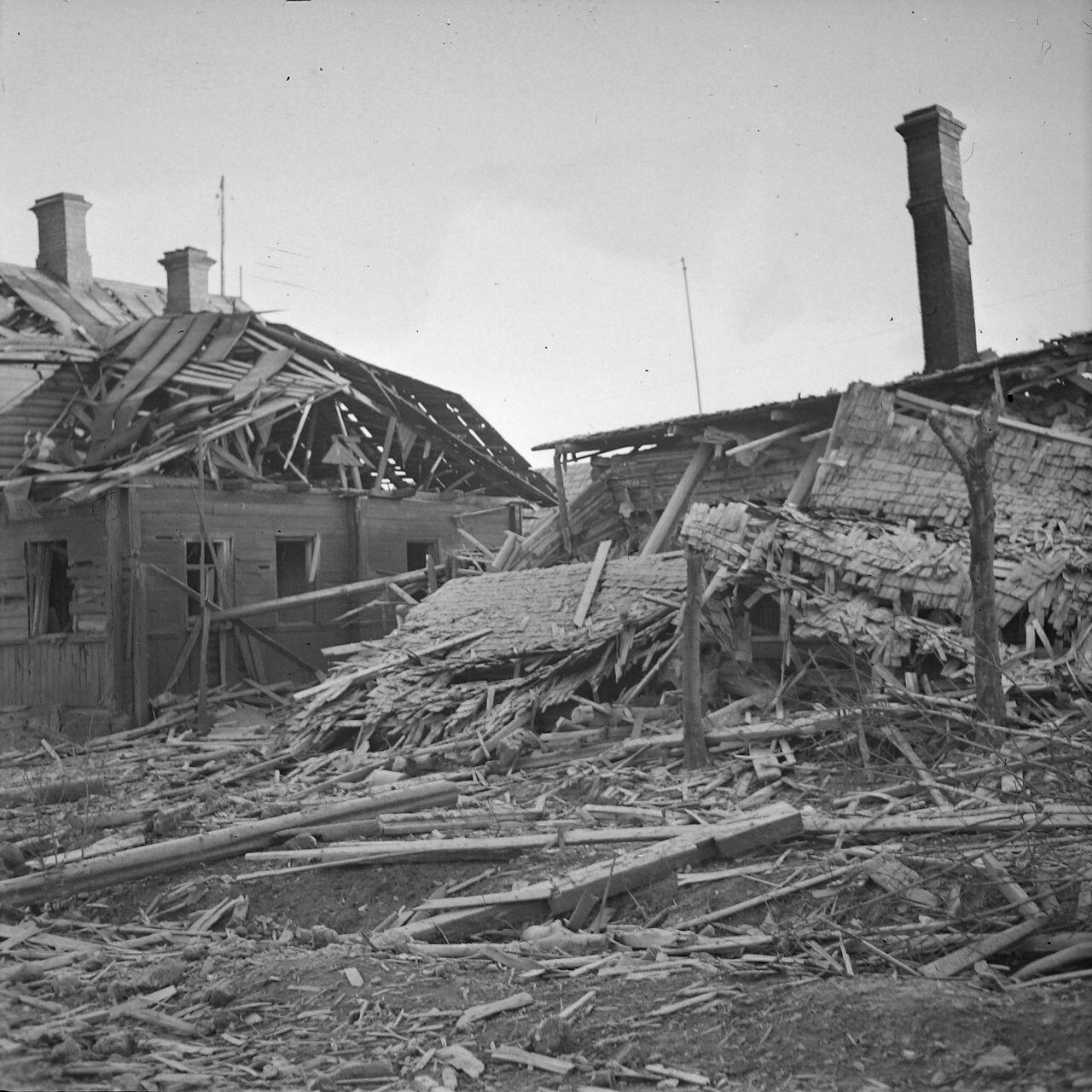Руины домов