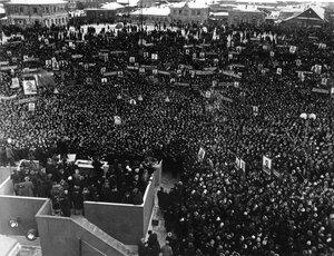 Москва. В день похорон Сталина