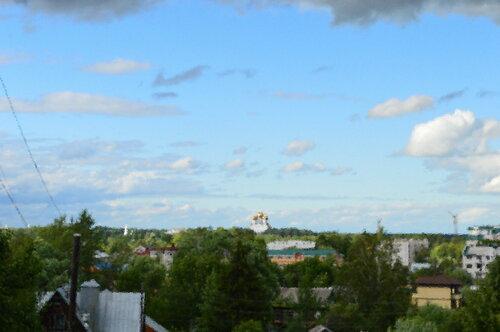 Вид на Ярославль с Туговой горы.