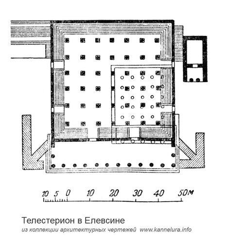 Телестерион в Елевсине, план