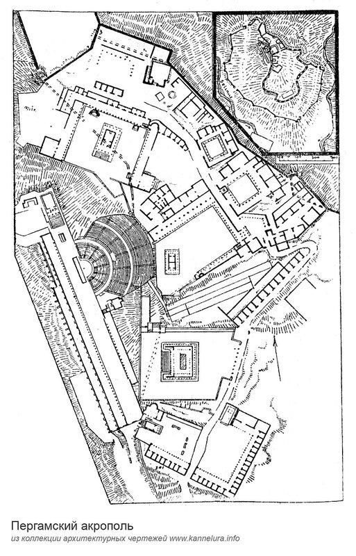 Пергамский акрополь, план
