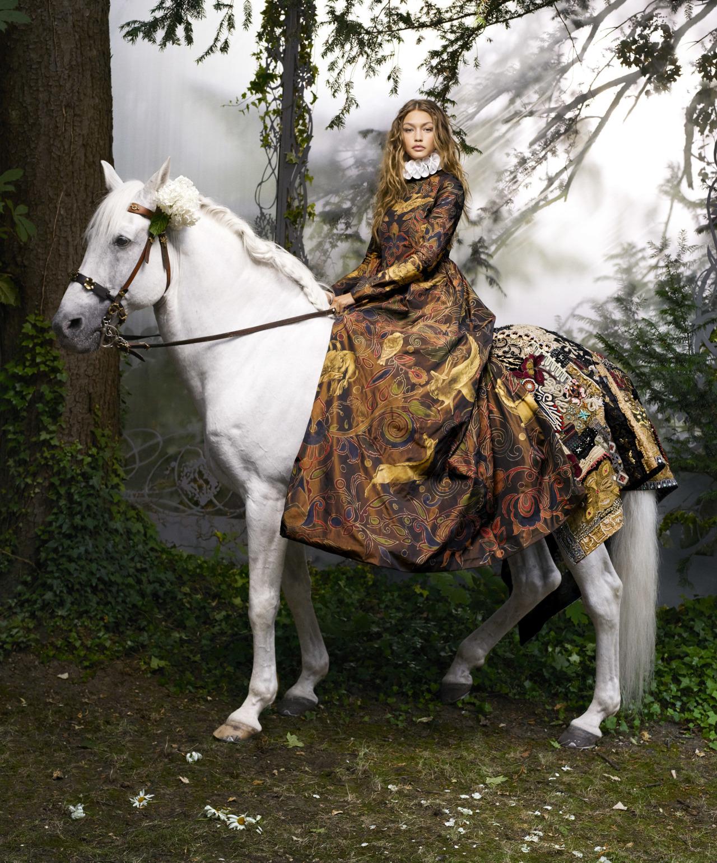 Джиджи Хадид Gigi Hadid's Couture Fairy Tale / Harper's Bazaar US October 2016