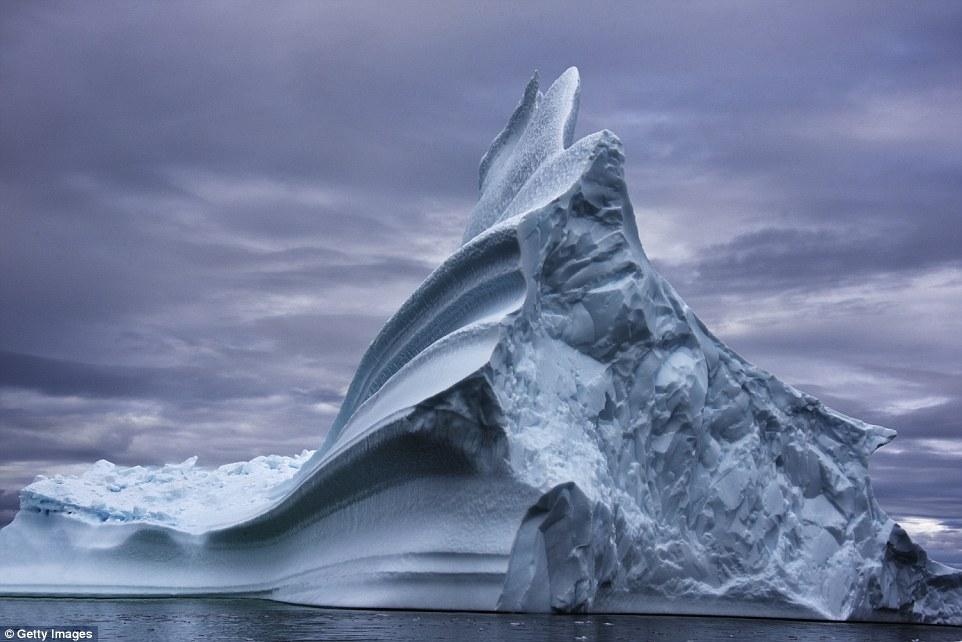 Колония пингвинов в море Скота превратила этот древний айсберг в парк развлечений.