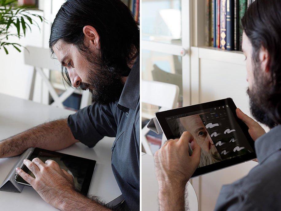 Сюрреализм сенсора на iPad (23 фото)