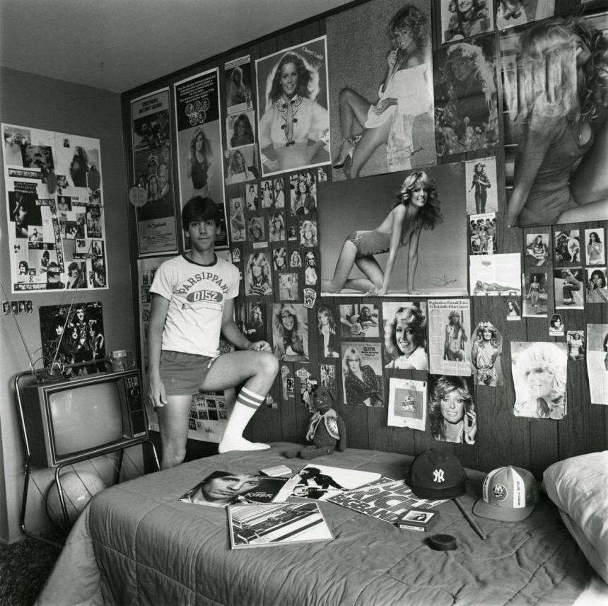 Дэвид в своей комнате. Фото: Линда Брукс, 1981.