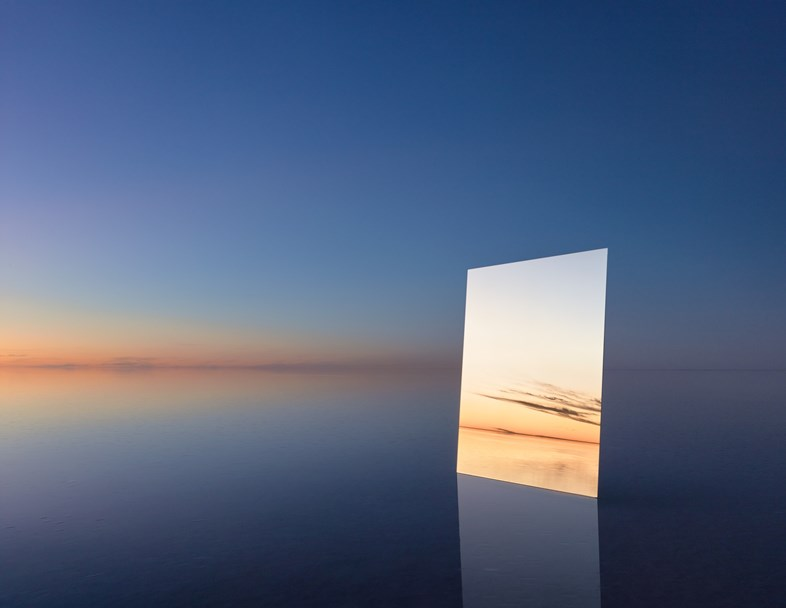 Poetic Pictures of Mirror Reflecting Horizon by Murray Frederick (5 pics)
