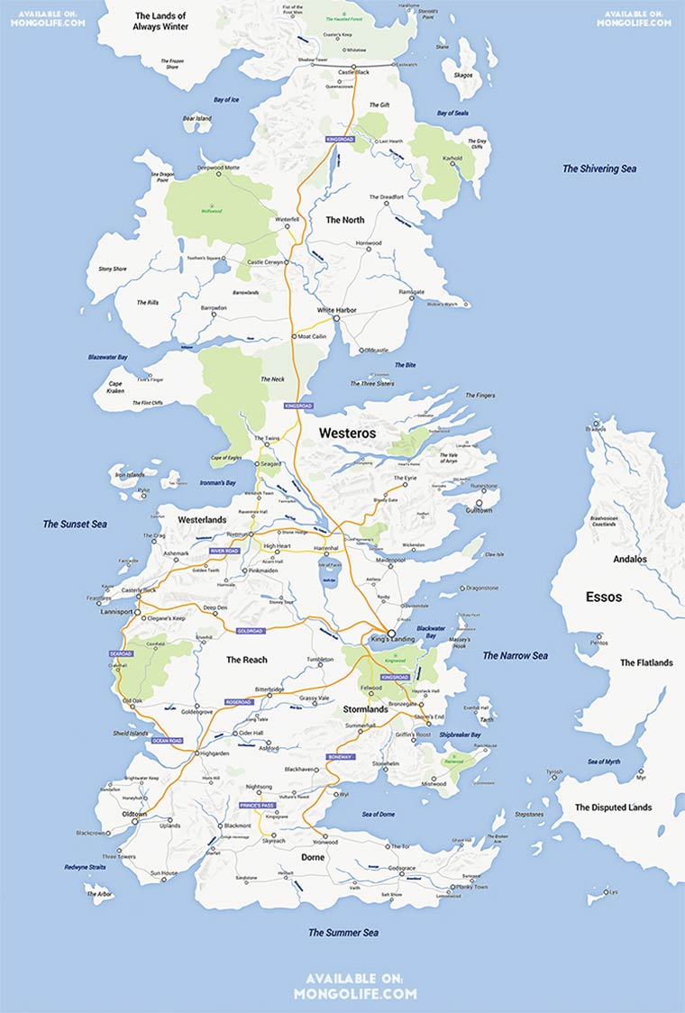 Game of Thrones - Quand le continent de Westeros rencontre Google Maps
