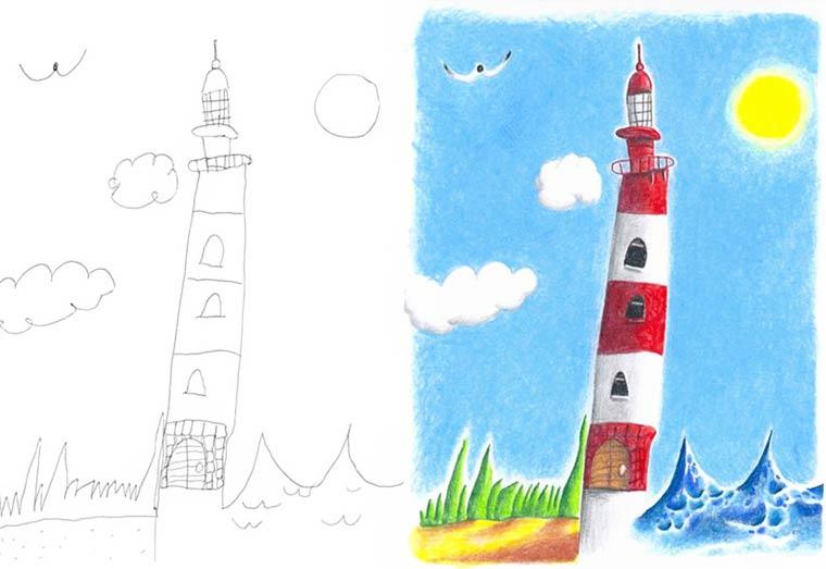 Quand un papa creatif s'amuse a terminer et a colorier les dessins de ses enfants