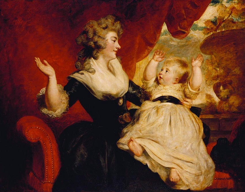 Georgiana, Duchess of Devonshire, with her daughter Georgiana, later Countess of Carlisle  1807-08.jpg