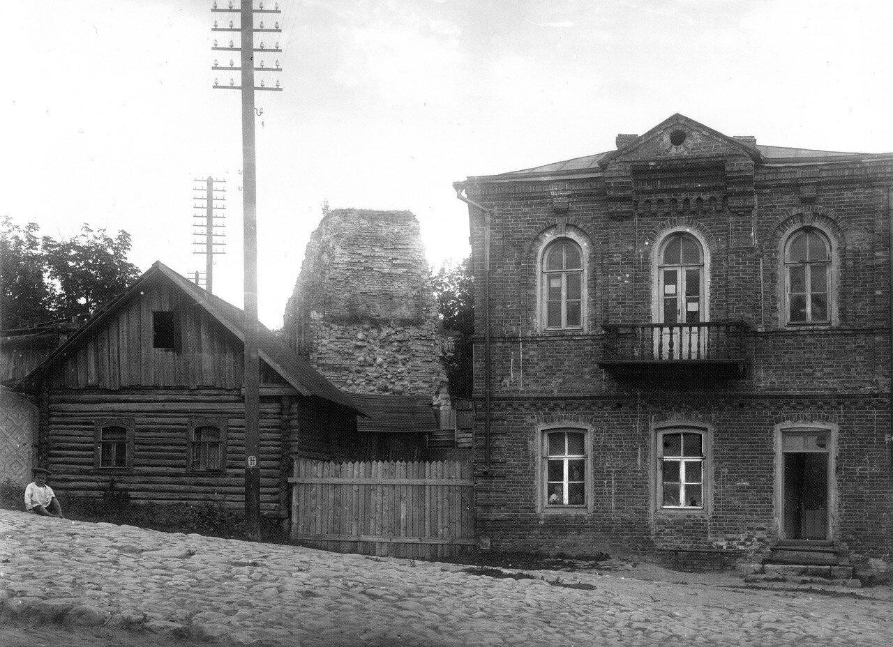 Торец крепостной стены у Большого Пятницкого пролома. 1907