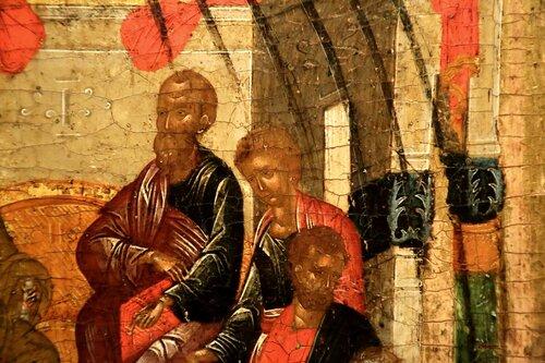 Сошествие Святого Духа на Апостолов. Икона в Византийском музее в Афинах.